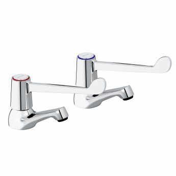 Bristan Value Lever Basin Taps 152mm Levers Chrome Plated