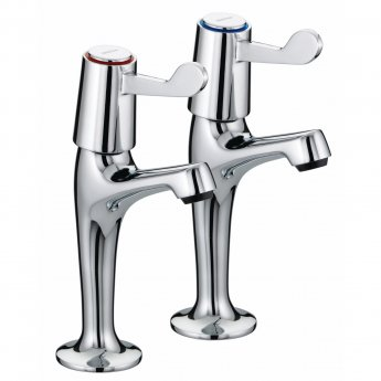 Bristan Value Lever Kitchen Sink Taps, 3 Inch Handles, Chrome