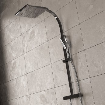 Bristan Vertico FastFit Bar Mixer Shower with Shower Kit + Fixed Head