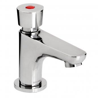 Bristan Z2 DUS Single Timed Flow Deck Basin Tap with Flow Regulator, Chrome