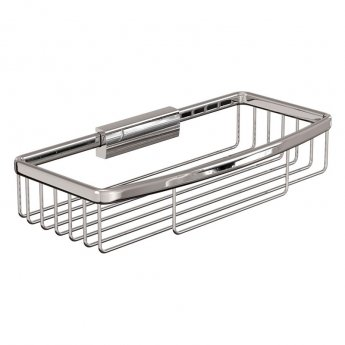Britton Large Rectangular Wire Soap Basket - Chrome