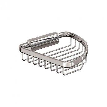 Britton Small Corner Wire Soap Basket - Chrome