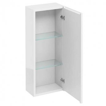 Britton Wall Hung Storage Unit 300mm Wide - White