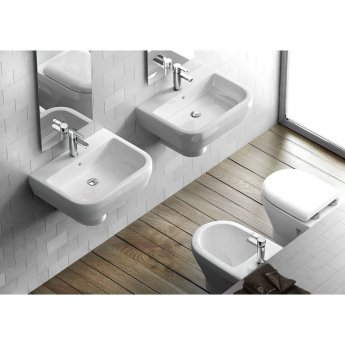 Britton Compact Back to Wall Toilet 480mm Projection - Soft Close Seat