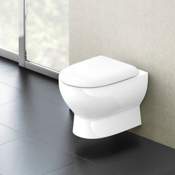 Britton Compact Wall Hung Toilet 480mm Projection - Soft Close Seat