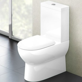 Britton Compact Back to Wall Close Coupled Toilet - Soft Close Seat