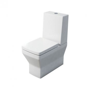 Britton Cube S20 Close Coupled Toilet with One Piece Cistern - Soft Close Seat