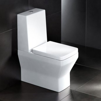 Britton Cube S20 Close Coupled Toilet with Standard Cistern - Soft Close Seat