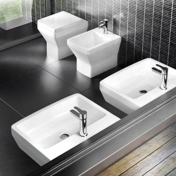 Britton Cube S20 Back to Wall Toilet 520mm Projection - Soft Close Seat