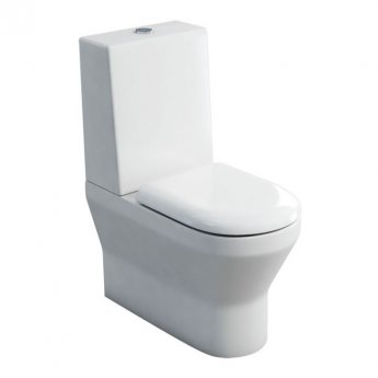 Britton Curve S30 Back to Wall Close Coupled Toilet with One Piece Cistern - Soft Close Seat