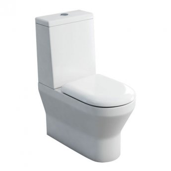 Britton Curve S30 Back to Wall Close Coupled Toilet with Standard Cistern - Soft Close Seat