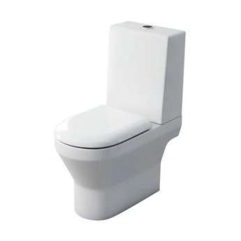 Britton Curve S30 Open Back Close Coupled Toilet with One Piece Cistern - Soft Close Seat