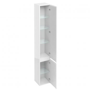 Britton D30 2-Door Tall Base Unit 300mm Wide - White