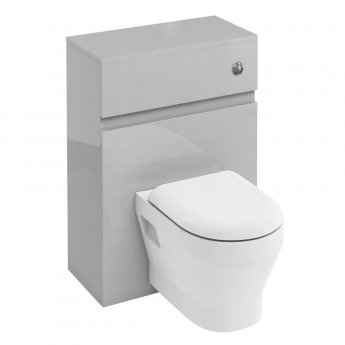 Britton D30 Wall Hung WC Unit Cistern and Dual Flush Button with Steel Frame for Pan - Light Grey