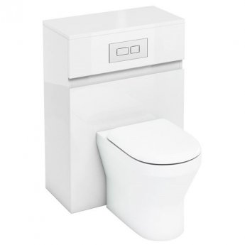 Britton D30 Back to Wall WC Unit with Dual Flush Cistern and Plate - White