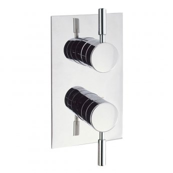 Britton Elegante Thermostatic Dual Concealed Shower Valve with Dual Outlet - Chrome