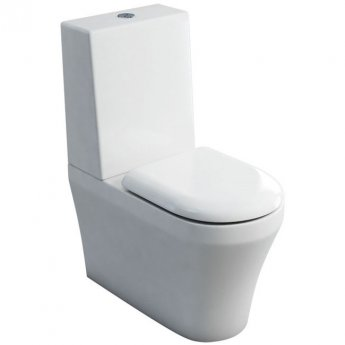 Britton Fine Close Coupled Toilet with One Piece Cistern - Soft Close Seat