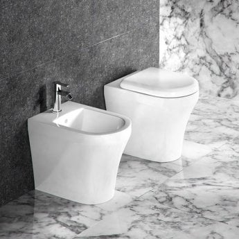 Britton Fine Back to Wall Toilet 520mm Projection - Soft Close Seat