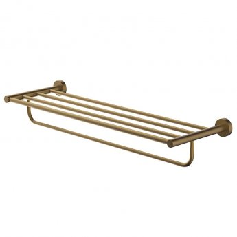 Britton Hoxton Wall Mounted Towel Rack - Brushed Brass
