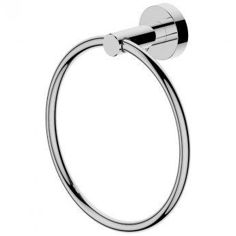 Britton Hoxton Wall Mounted Towel Ring - Chrome
