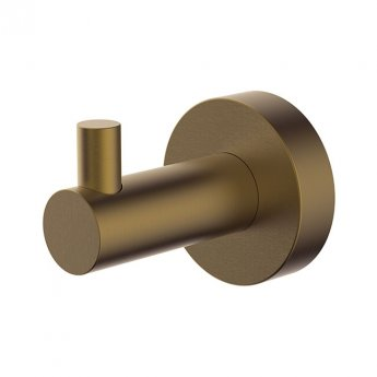 Britton Hoxton Wall Mounted Robe Hook - Brushed Brass