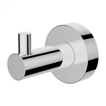 Britton Hoxton Wall Mounted Robe Hook - Chrome