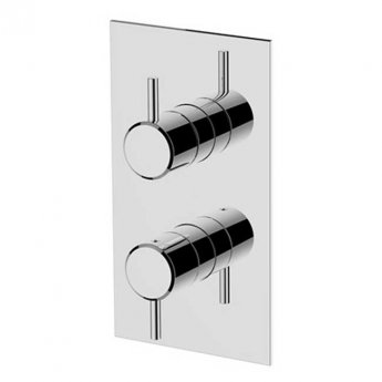Britton Hoxton Thermostatic Dual Concealed Shower Valve - Chrome