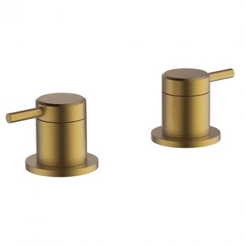 Britton Hoxton Deck Mounted Panel Valves - Brushed Brass