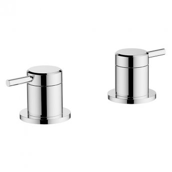 Britton Hoxton Deck Mounted Panel Valves - Chrome