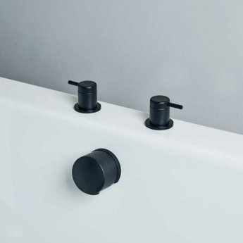 Britton Hoxton Deck Mounted Panel Valves - Matt Black