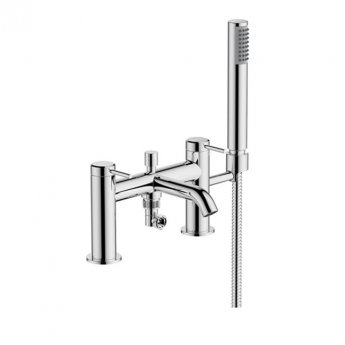 Britton Hoxton Bath Shower Mixer Tap with Shower Kit - Chrome