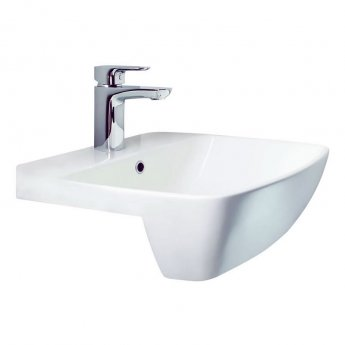 Britton My Home Semi Recessed Basin 500mm Wide - 1 Tap Hole
