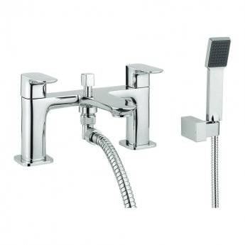 Britton My Home Bath Shower Mixer Tap Pillar Mounted - Chrome
