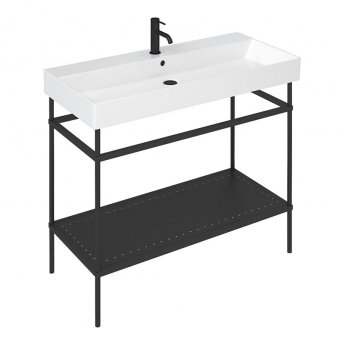 Britton Shoreditch Frame 1000mm Wide Basin with Black Washstand - 1TH