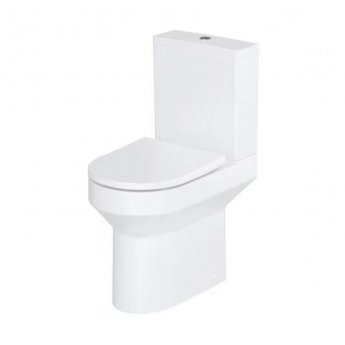 Britton Shoreditch Rimless Close Coupled Round Toilet with Cistern - Soft Close Seat
