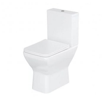 Britton Shoreditch Rimless Close Coupled Square Toilet with Cistern - Soft Close Seat
