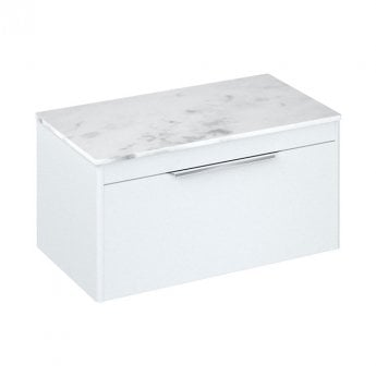 Britton Shoreditch Wall Hung 1-Drawer Vanity Unit 850mm Wide - Matt White