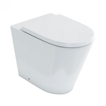 Britton Sphere Rimless Back to Wall Toilet 520mm Projection - Soft Close Seat