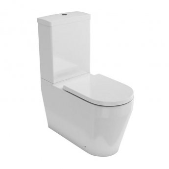 Britton Stadium Back to Wall Close Coupled Toilet with Cistern - Soft Close Seat
