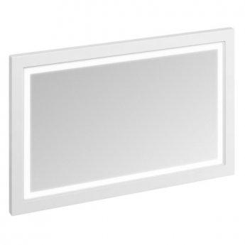 Burlington 120 Fitted Framed LED Bathroom Mirror, 750mm High x 1200mm Wide, Matt White
