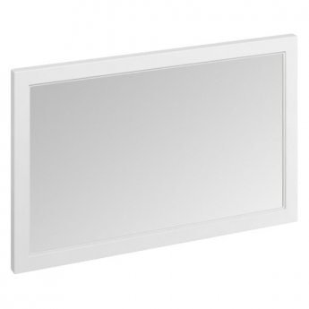 Burlington 120 Fitted Framed Bathroom Mirror, 750mm High x 1200mm Wide, Matt White