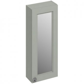 Burlington 30 Fitted 1-Door Mirrored Wall Cabinet Unit, 300mm Wide, Olive