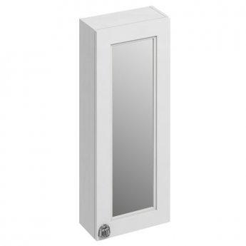 Burlington 30 Fitted 1-Door Mirrored Wall Cabinet Unit, 300mm Wide, Matt White