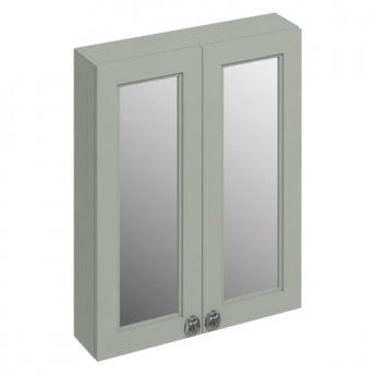 Burlington 60 Fitted 2-Door Mirrored Wall Cabinet Unit, 600mm Wide, Olive