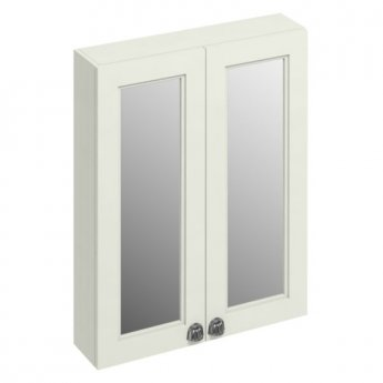 Burlington 60 Fitted 2-Door Mirrored Wall Cabinet Unit, 600mm Wide, Sand