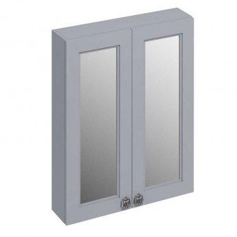 Burlington 60 Fitted 2-Door Mirror Wall Cabinet Unit 600mm Wide - Classic Grey