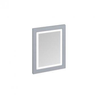 Burlington 60 Fitted Framed LED Bathroom Mirror 750mm High x 600mm Wide - Classic Grey