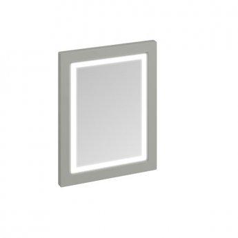 Burlington 60 Fitted Framed LED Bathroom Mirror, 750mm High x 600mm Wide, Olive
