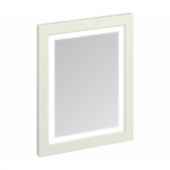 Burlington 60 Fitted Framed LED Bathroom Mirror, 750mm High x 600mm Wide, Sand
