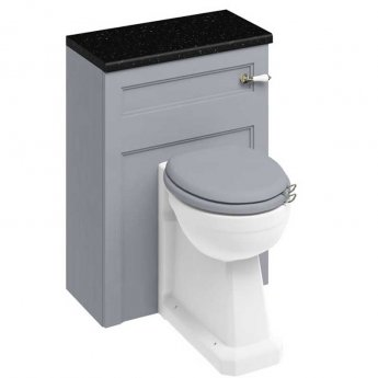 Burlington 60 Back to Wall Toilet with WC Unit and Cistern - Classic Grey - Excluding Seat